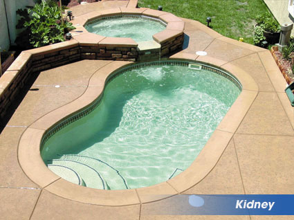 Kidney shaped swimming pools from heritage pools